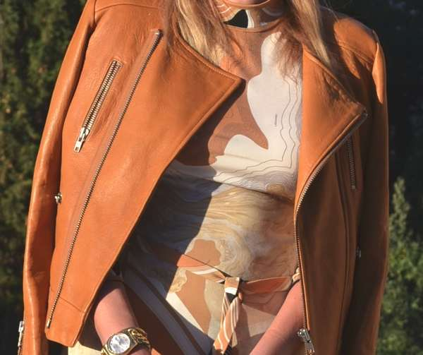 Rock chic IRO leather jacket-leonard vintage dress