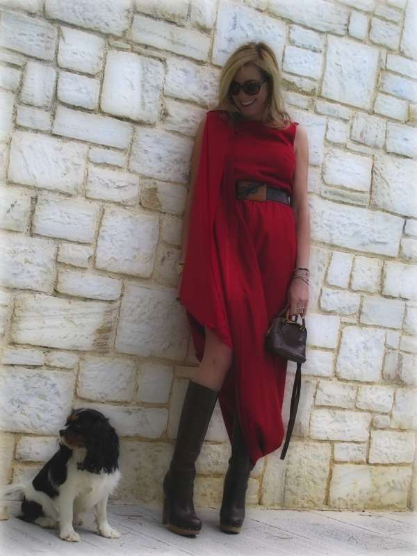 Maison Martin Margiela for HM red dress