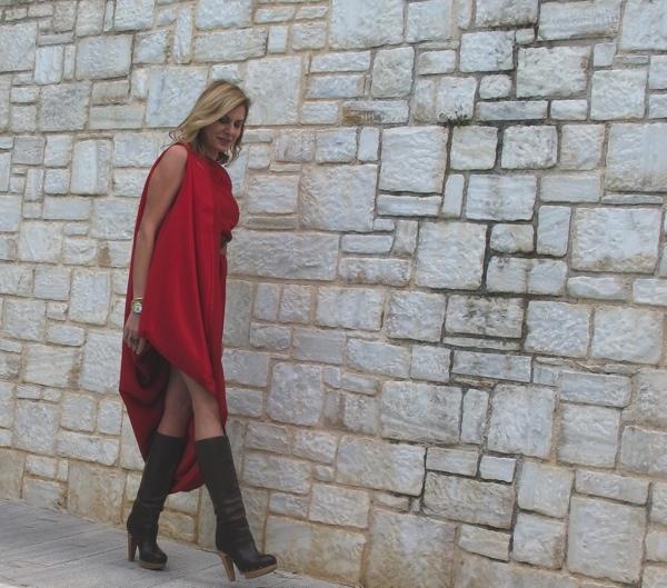 Maison-Martin-Margiela-with-HM-red-dress