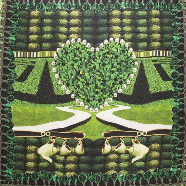 Mary Katrantzou green scarf