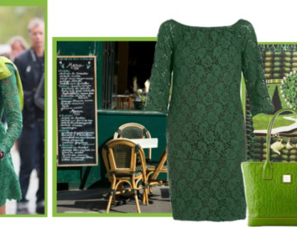 Icelle's Green Inspiration Outfit Collage