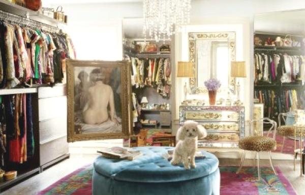 Nanette Lepore's dressing room