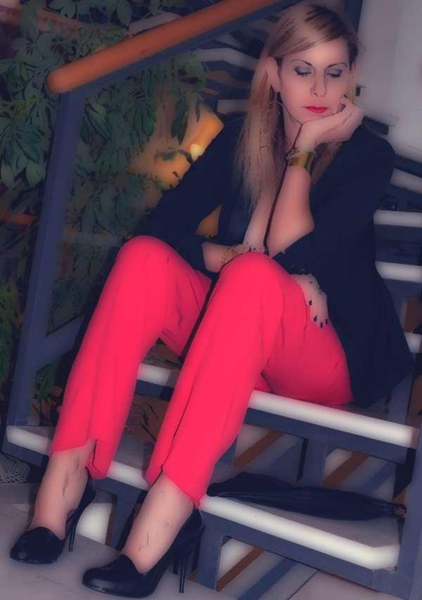Isabel  Marant Cerise Palazzo pants and tux jacket