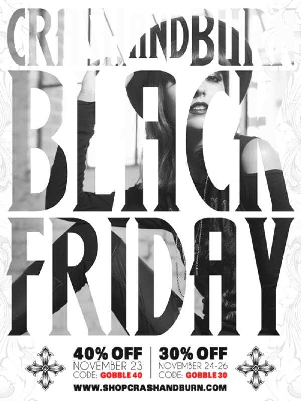 Crash & Burn Apparel's Black Friday + Cyber Monday Sale!