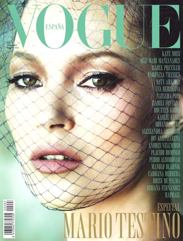 Kate Moss by Mario Testino cover vogue Spain Dec 2012