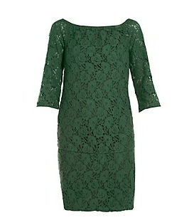 new look green lace dress