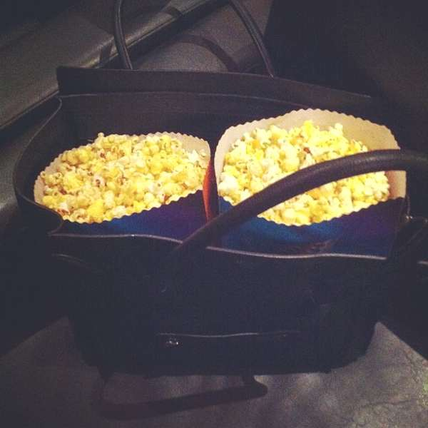 Instagram, Celine hand bag and pop corn