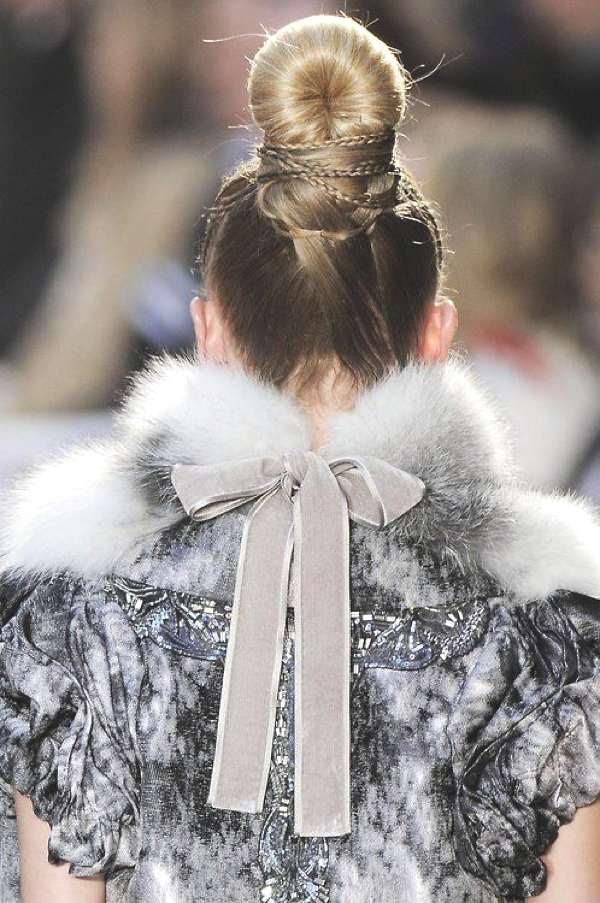 glamorous party top knot hairstyle