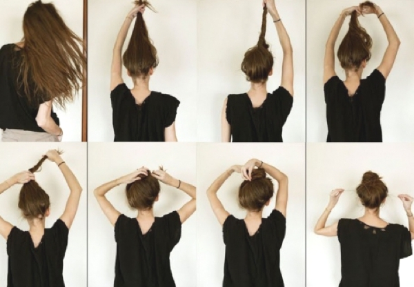 Top knot hair style how to