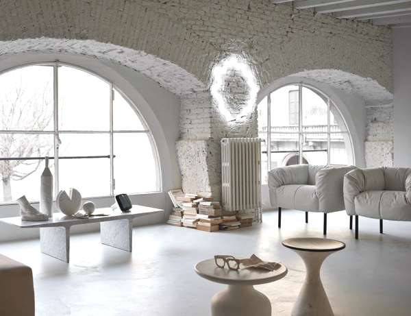 All white interior decor