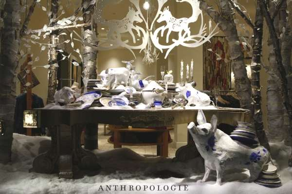 Anthropologie, New York, Unique Magical Holiday Christmas Windows
