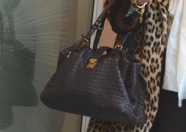 Bottega Veneta Bag and Leopard coat