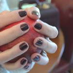 Oxblood French Nail Art manicure