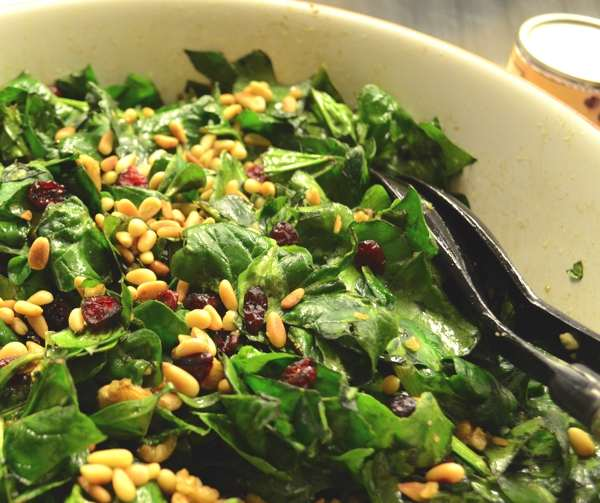Spinach salad