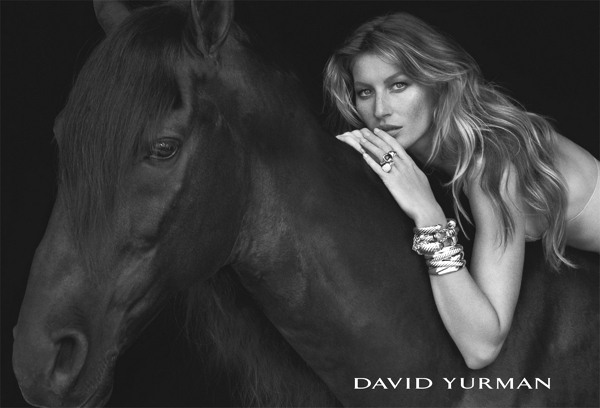 Model: Gisele Bundchen Campaign: David Yurman Fall Winter 2013 Photography by Peter Lindbergh