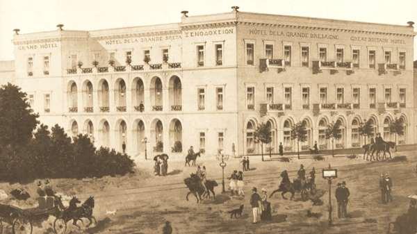 A historic 19th century of the Hotel Grand Bretagne