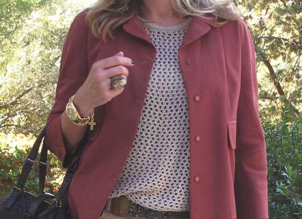 Carven coat, Rolex watch