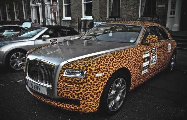 Leopard car Rolls Royce