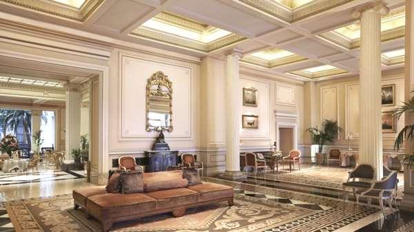 The lobby of the Hotel Grande Bratagne