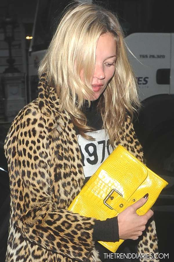 kate moss_november 2012, Leopard fur Coat