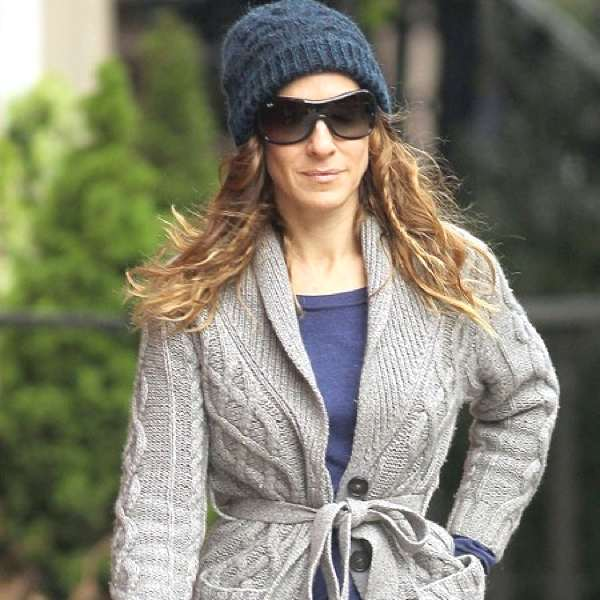 Sarah jessica Parker cable knit beanie