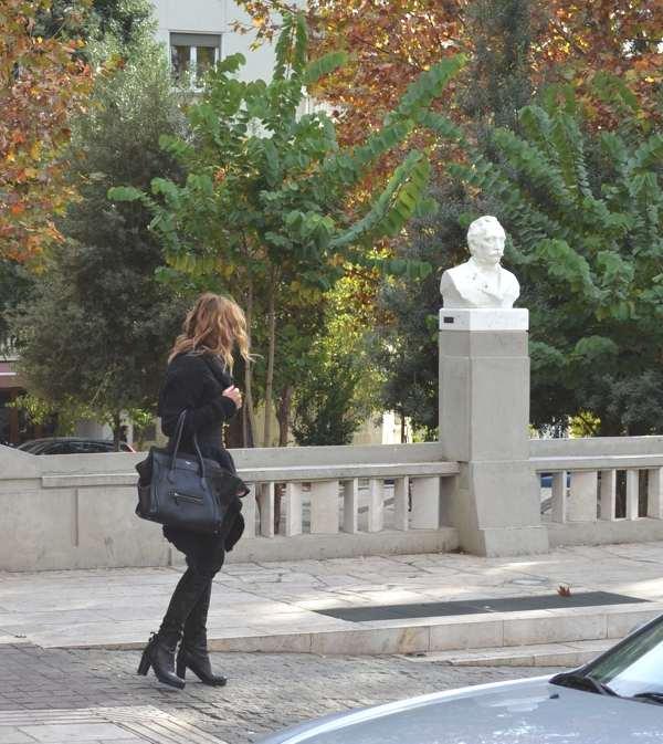 Rick Owens Jacket, Celine Bag, Street Style