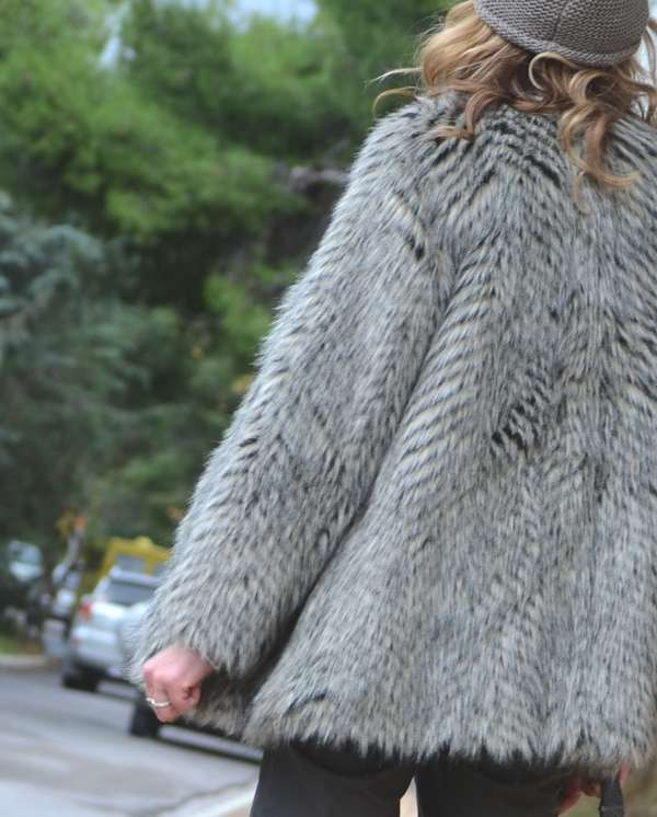 faux fur Marc Jacobs