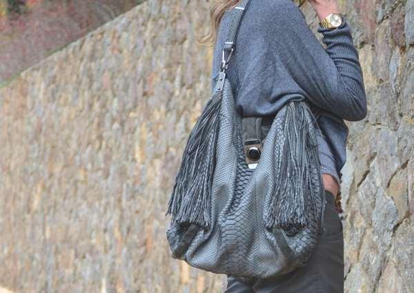 Celine fringe snake bag