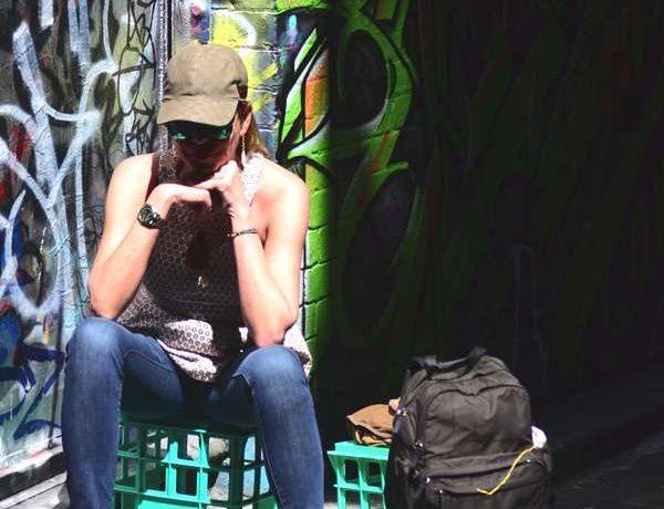 Travel Australia- Melbourne Street Art Graffiti my outfit