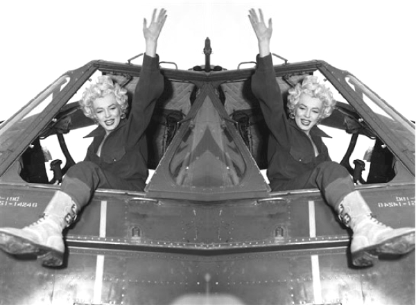 Marilyn Monroe combat boots