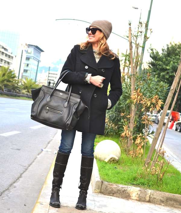 Miu Miu Boots and Anne Klein coat