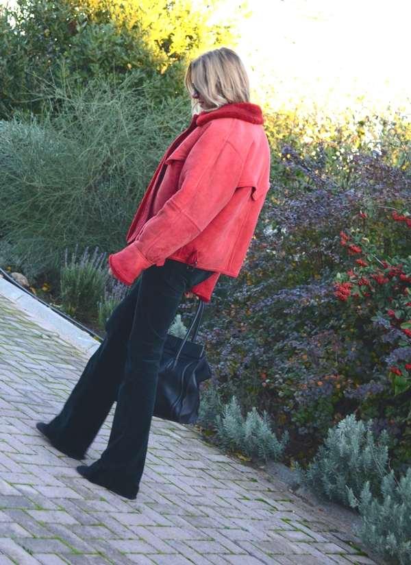 Red Gucci Jacket JBrand pants