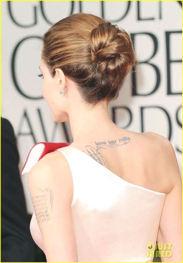 Angelina Jolie tattoo back