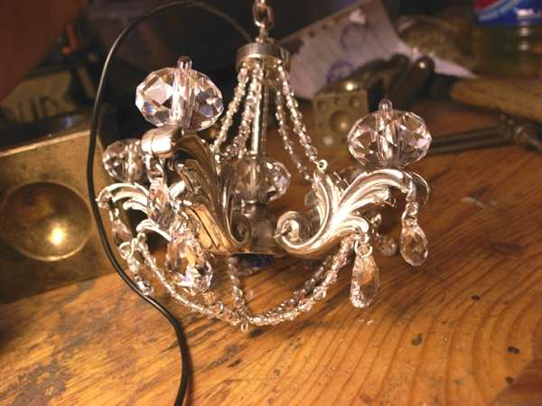 chandelier, earrings Metal Couture