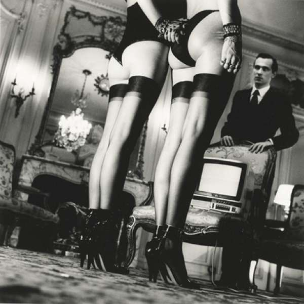 Helmut Newton, Two Pairs Of Legs In Black Stockings, Paris, 1979, Courtesy Sothebys 2011