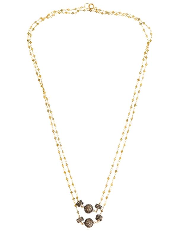 LEMON DIAMOND ROSARY NECKLACE