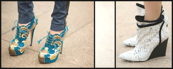 Fashion Week Street Style- The Stiletto Shoe Report 4Collage