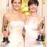 Oscar winners Jennifer Lawrence & Anne Hathaway