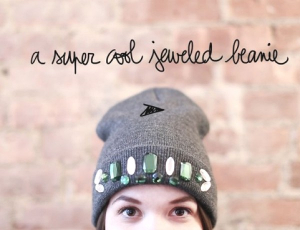 Jeweled beanie-0001