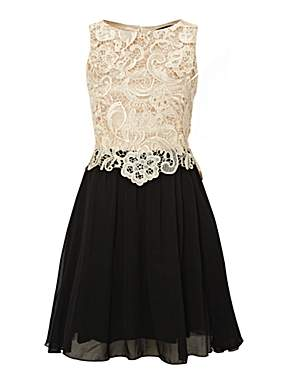 LITTLE MISTRESS 2 IN 1 Lace Top Dress