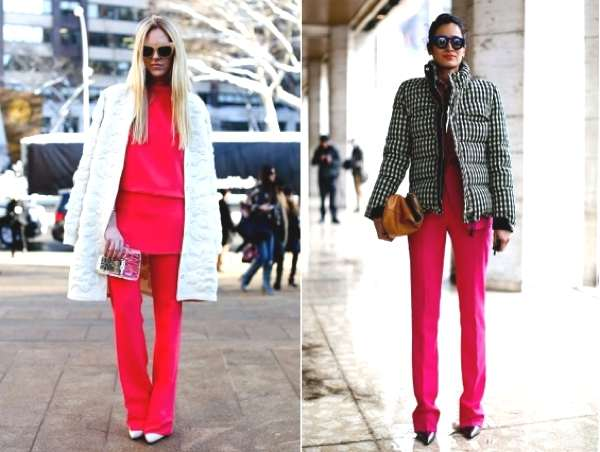 NYFW- street style-red pants