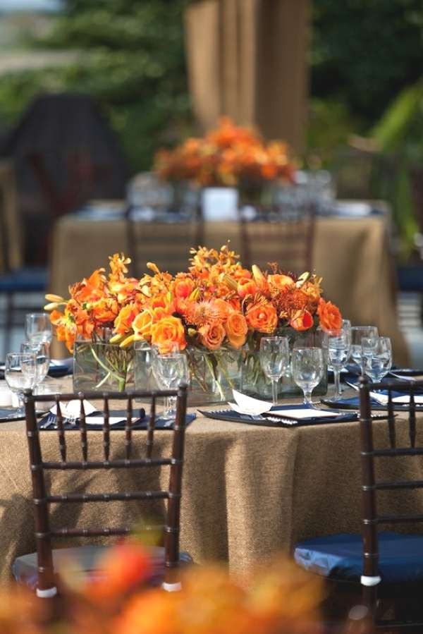 Orange Flower decor