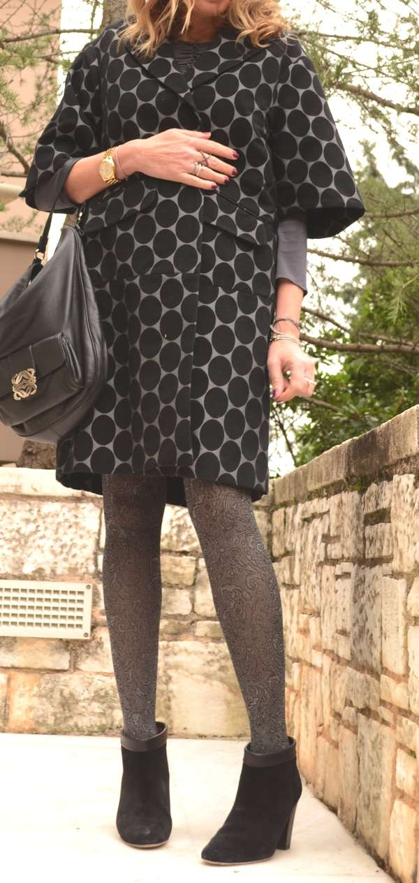 Outfit- Mixing Grey Prints 4