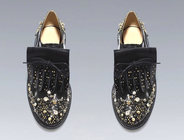 Zara Studded Brogues