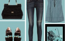 Icelle's Outfit Collage- The Blue Black Jeweled Loafers