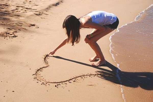 love sand heart