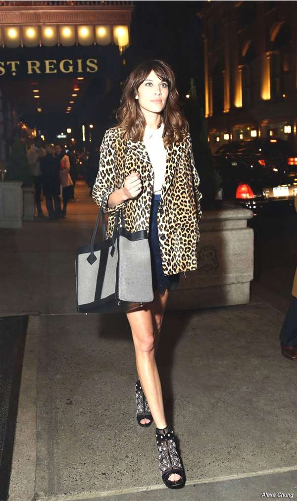 Alexa Chang Leopard coat