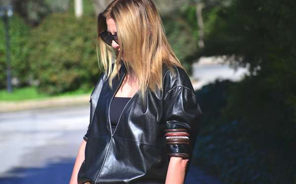 Ferre leather top