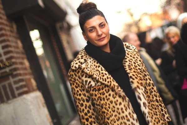 Giovanna Battaglia's leopard coat