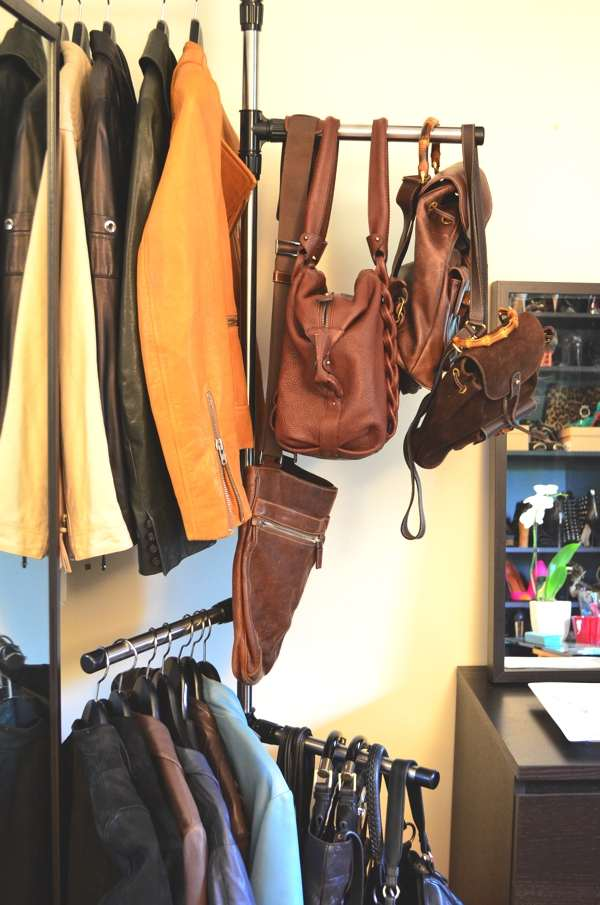 Leather jackets andbags